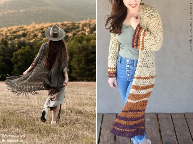 Boho Cardigans for Summer Free Crochet Patterns