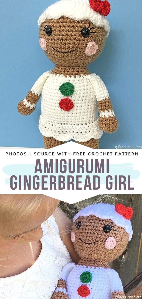 Amigurumi Gingerbread Girl - crochet christmas toys