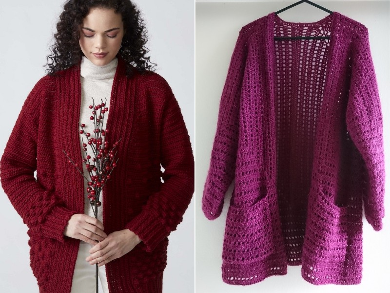 Berry Cardigans Free Crochet Patterns