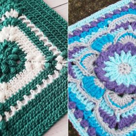 Blooming Afghan Squares Free Crochet Patterns