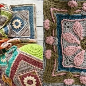 Boho Flower Afghans Free Crochet Patterns