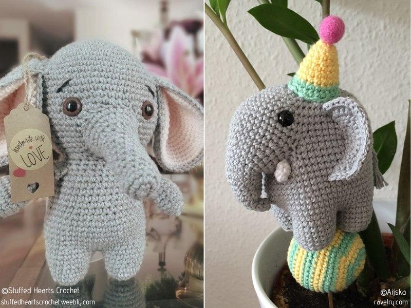 Charming Elephants Free Crochet Patterns