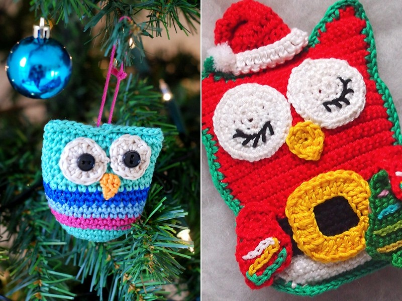 Christmas Owls Free Crochet Patterns