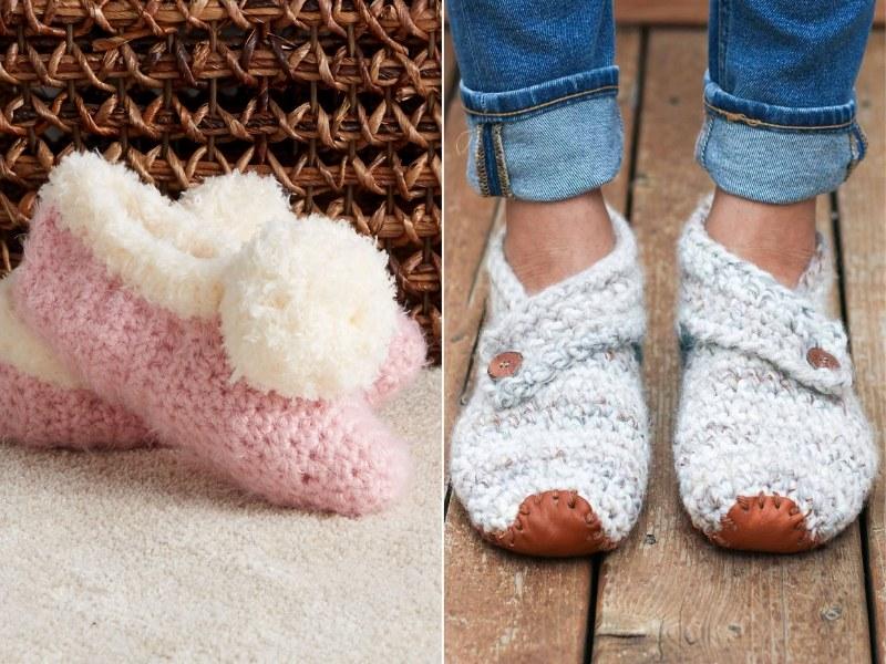 Soft Slippers Free Crochet Patterns