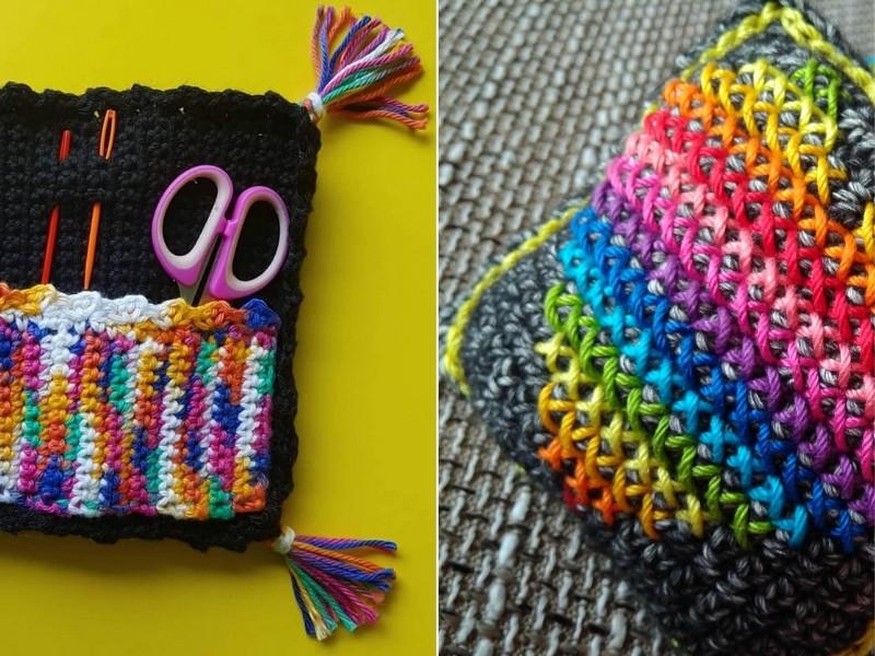 Crocheter's Rainbow Accessories Free Patterns