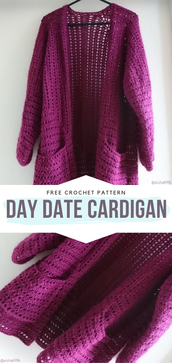 Day Date Cardigan Free Crochet Patterns