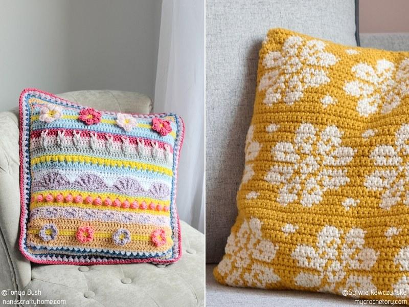 Floral Crochet Pillows