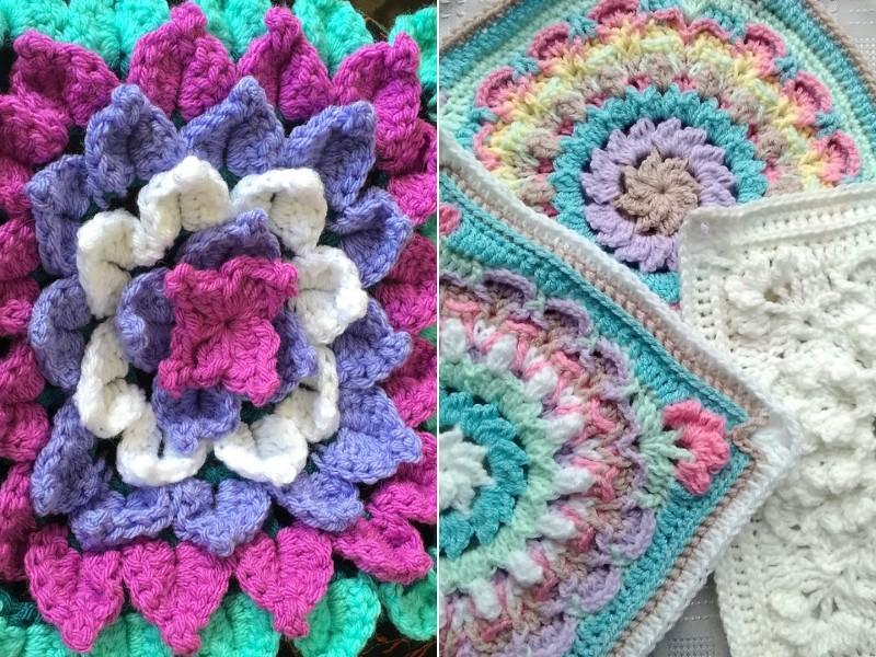 Gorgeous Flower Squares Free Crochet Patterns