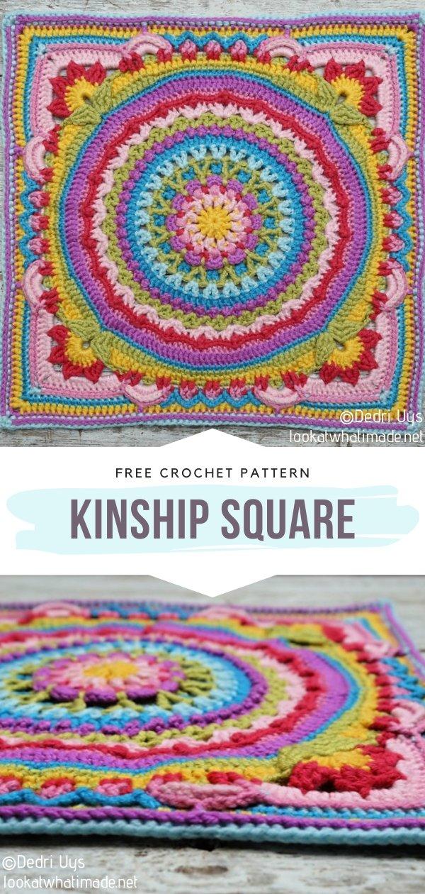 Colorful Crochet Square