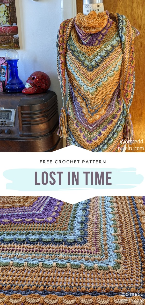 Lost in Time Crochet Shawl