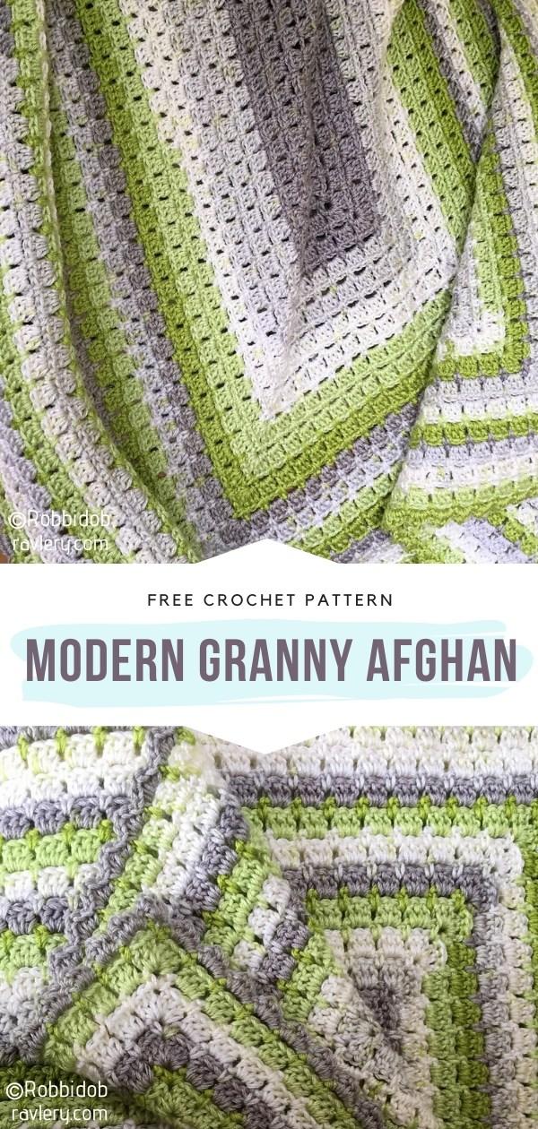 Modern Granny Crochet Afghan