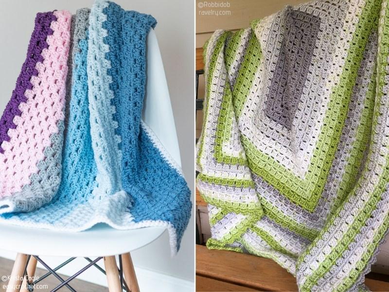 Modern Crochet Granny Afghans