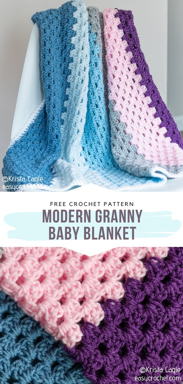 Modern Granny Baby Blanket
