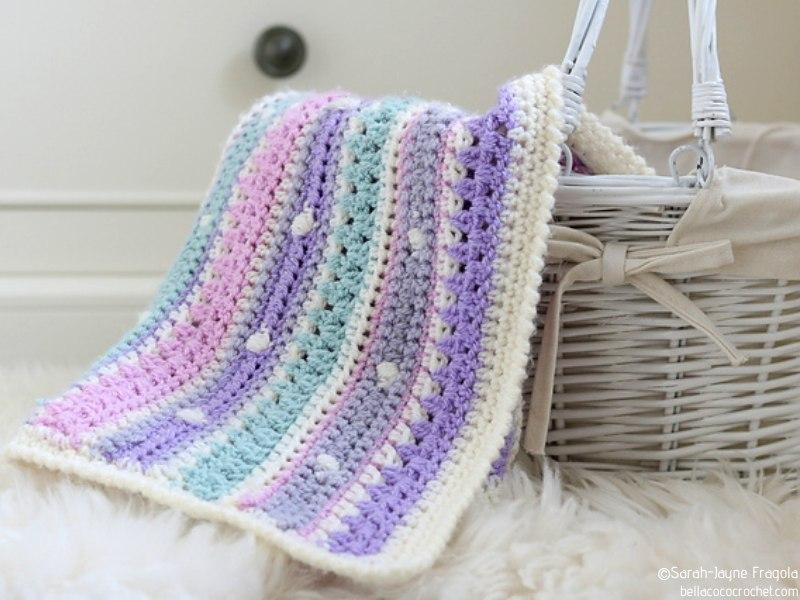 Pastel Baby Blankets Free Crochet Patterns