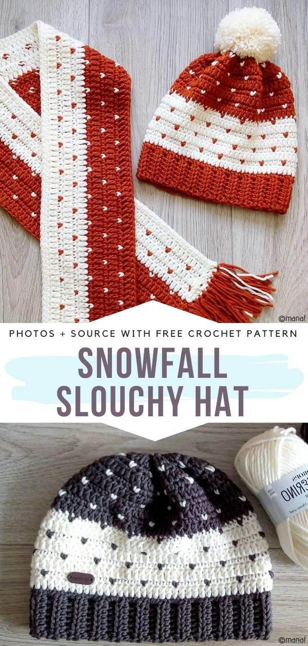 Snowfall Slouchy Hat Free Crochet Pattern