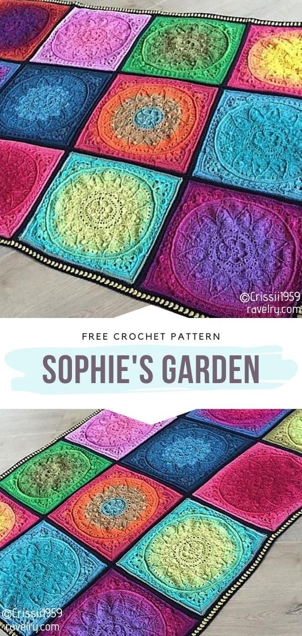 Sophie's Garden Crochet Square Blanket