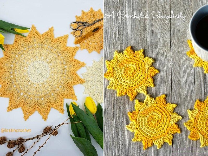 Sunny Coasters Free Crochet Patterns
