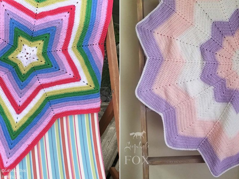 Crochet Star-Shaped Blankets