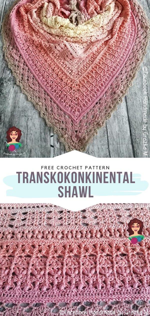 TransKOKONKInental Crochet Shawl