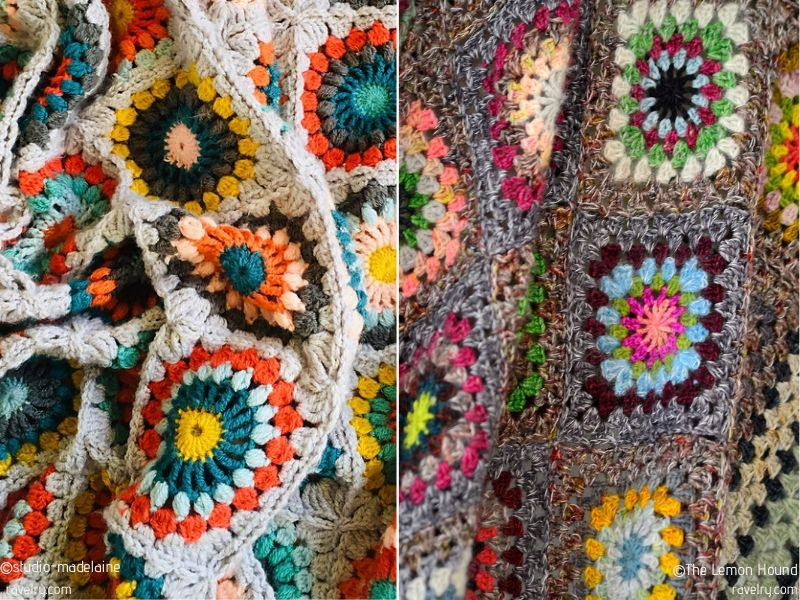 Wildflower Squares Blankets Free Crochet Patterns