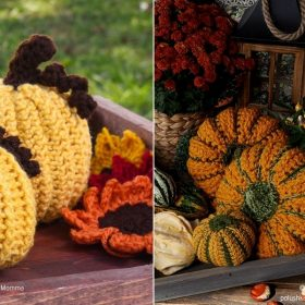 Pumpkin Decorations with Free Crochet Patterns