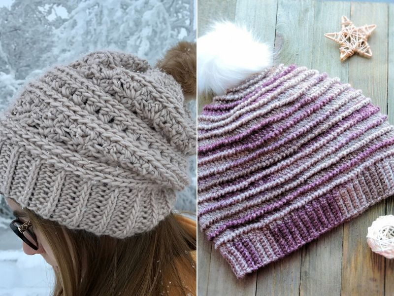 Free Patterns Classy Crochet Beanies