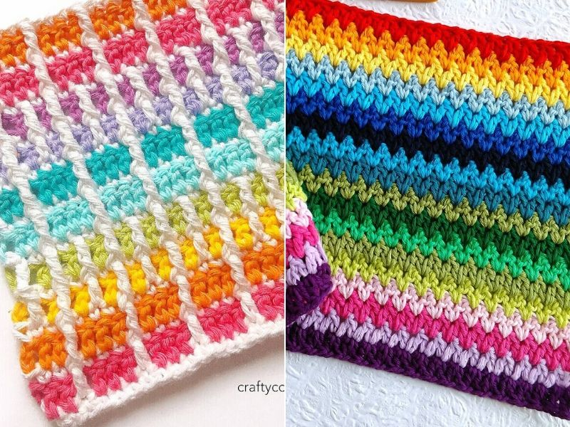 Free Patterns Colorful Crochet Stitches
