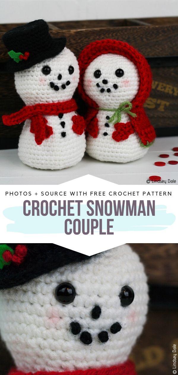 Crochet Snowman Couple