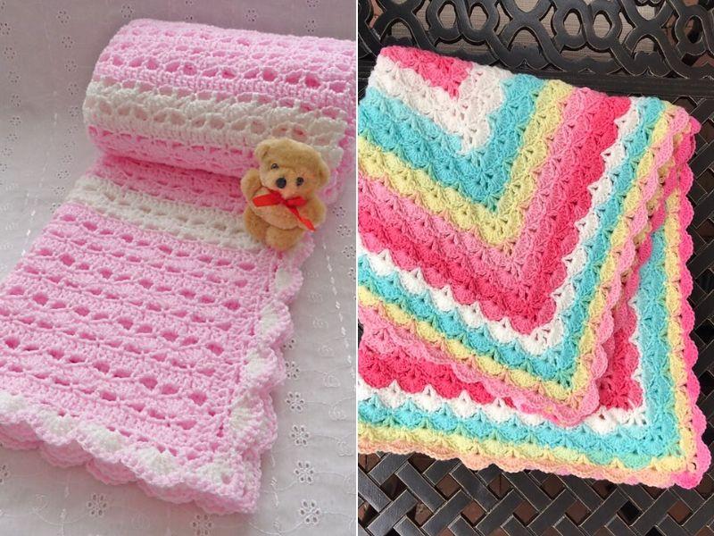 Free Crochet Patterns Darling Baby Blankets