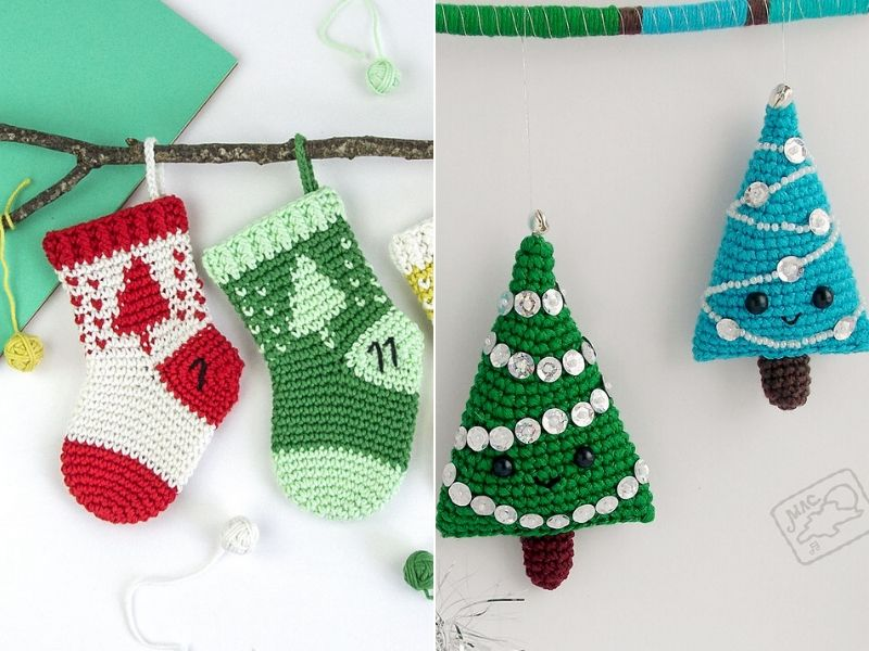 Free Crochet Patterns Delightful Christmas Ornaments