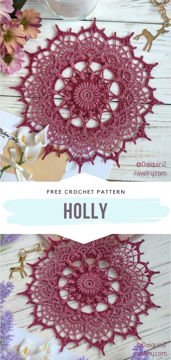 Crocheted doily