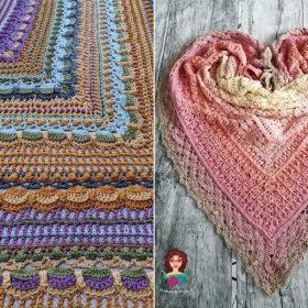 Bedazzling Shawls Free Crochet Patterns