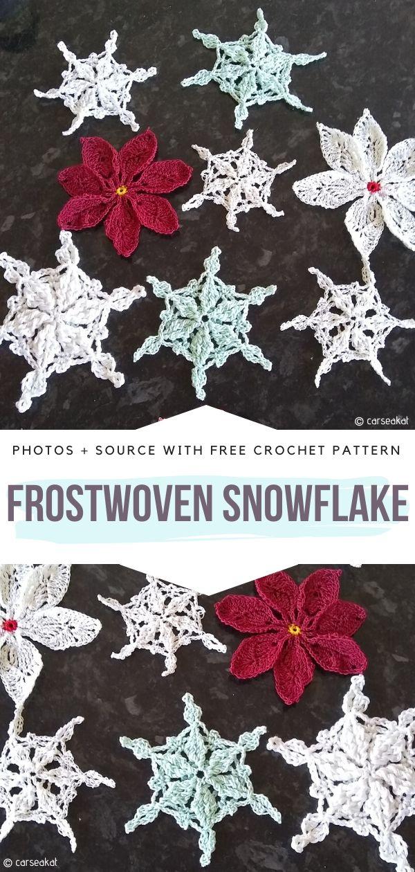 Free Crochet Pattern Frostwoven Snowflake