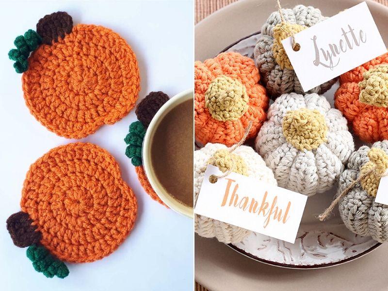 Free Crochet Patterns Pumpkin Table Decor