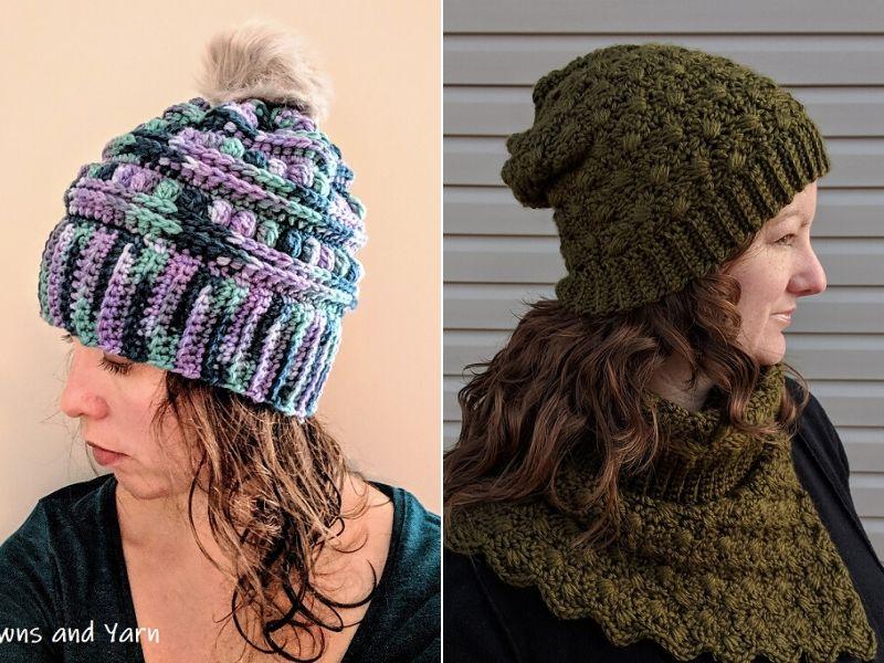 Free Patterns Textured Crochet Hats