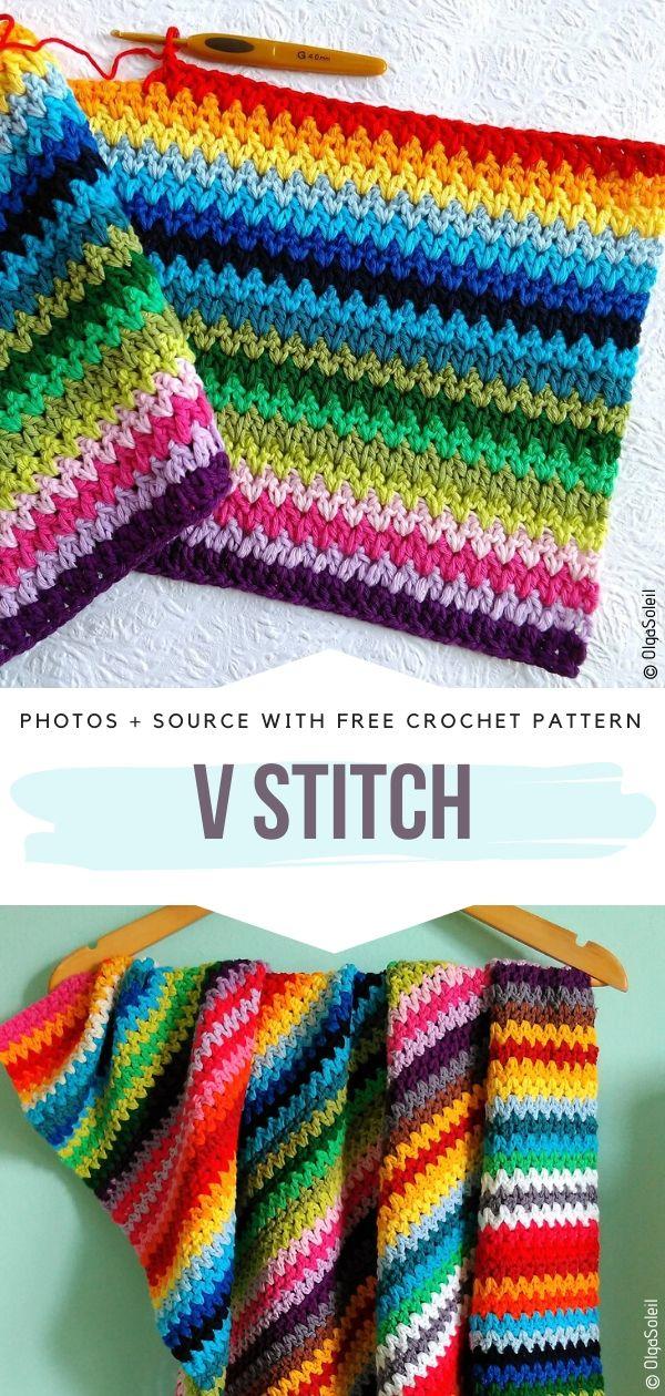 Free Crochet Pattern V Stitch