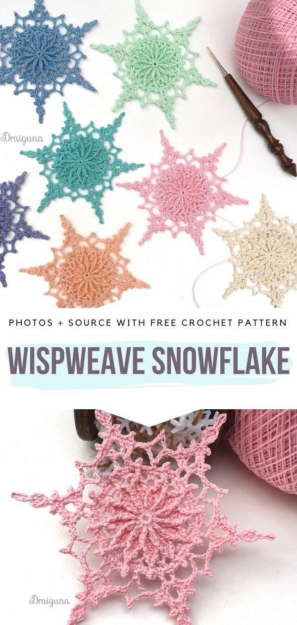 Free Crochet Pattern Wispweave Snowflake