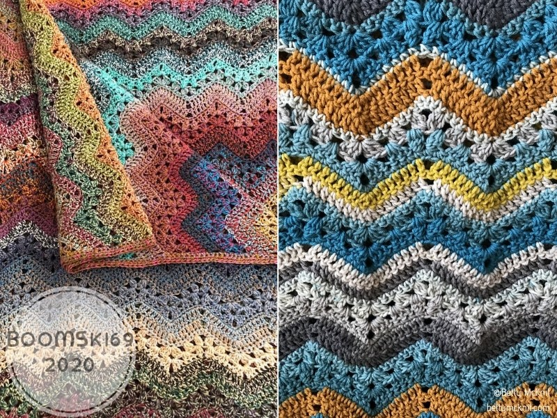 Wavy Crochet Blankets with Free Patterns
