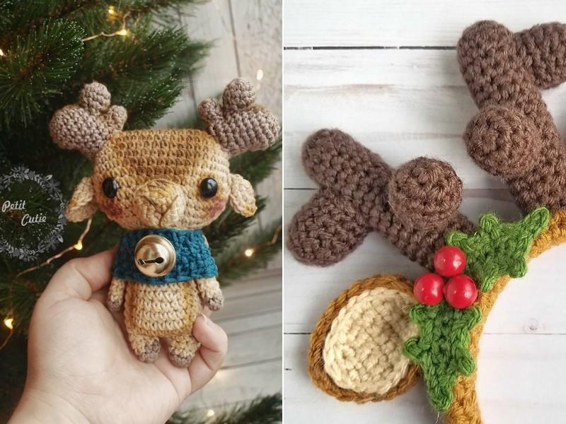 Adorable Reindeers Free Crochet Patterns