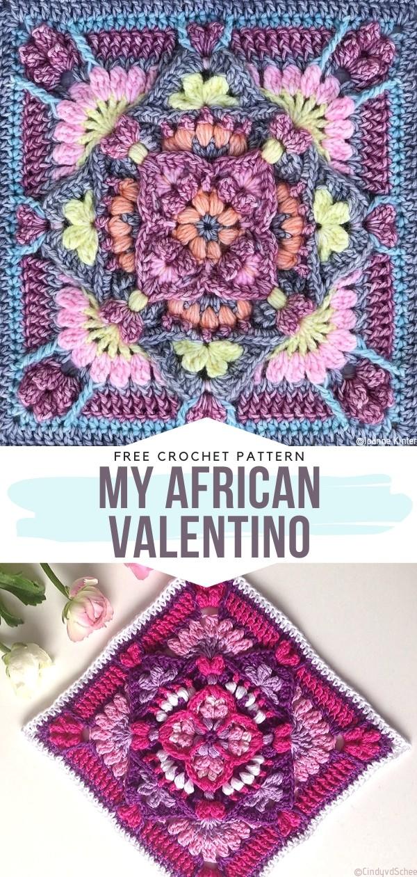 My African Valentino Free Crochet Pattern