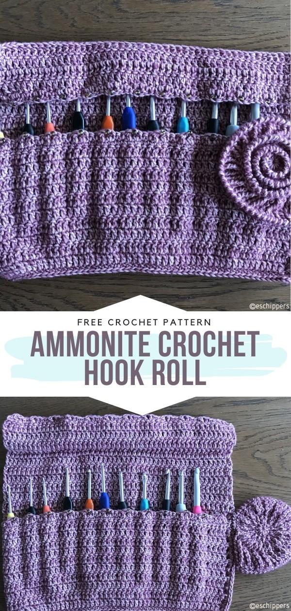 Ammonite Crochet Hook Roll Free Pattern