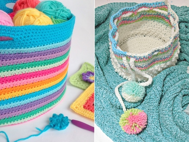 Baskets Free Crochet Patterns