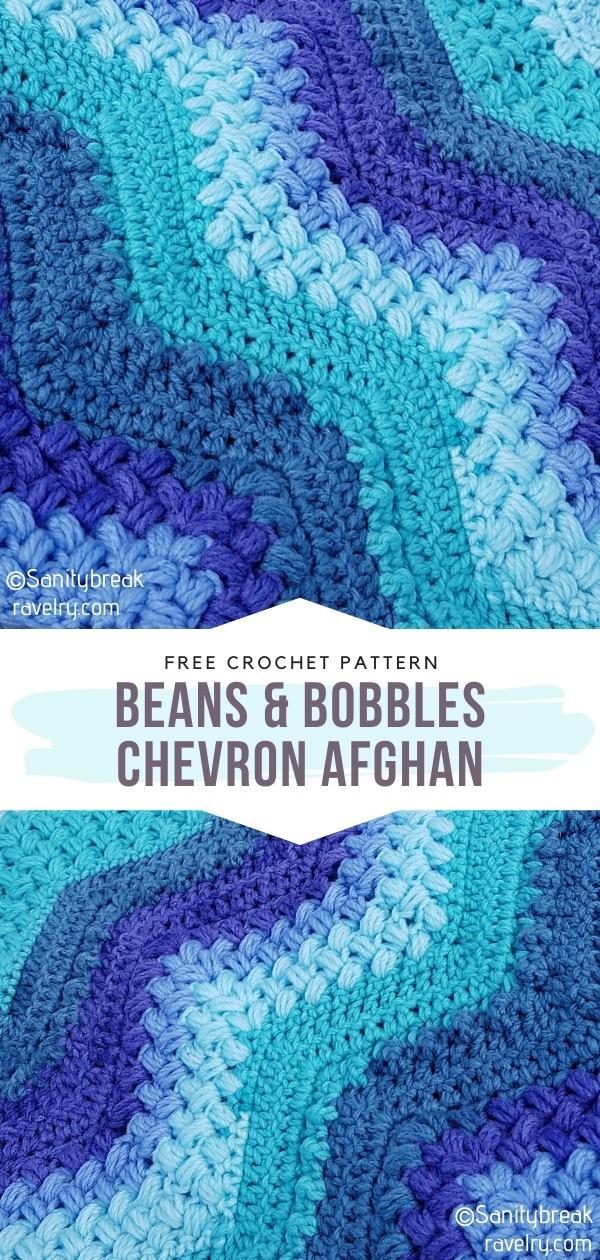 Beans & Bobbles Chevron Crochet Afghan