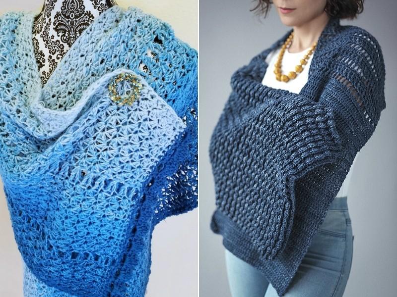 Blue Weather Shawls Free Crochet Patterns