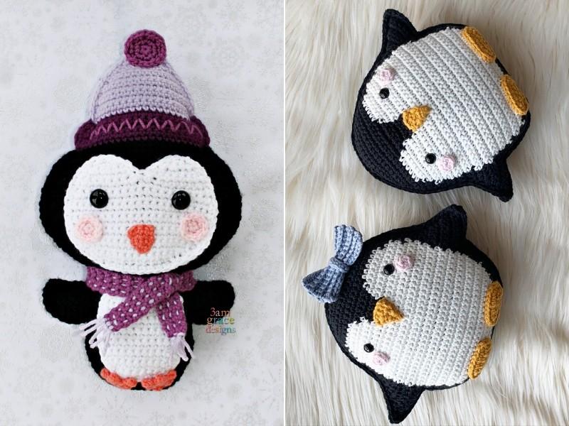 Charming Penguins Free Crochet Patterns