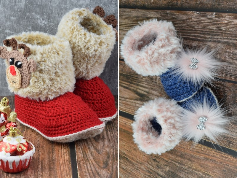 Cheerful Baby Booties Free Crochet Patterns
