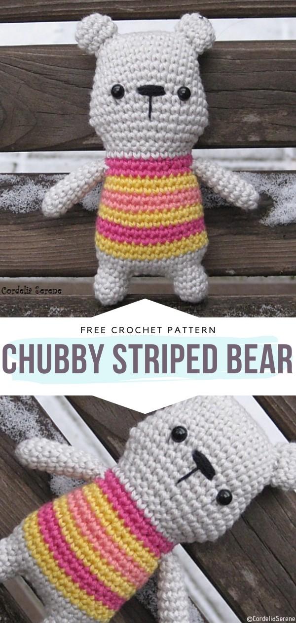 Chubby Striped Bear Free Crochet Pattern