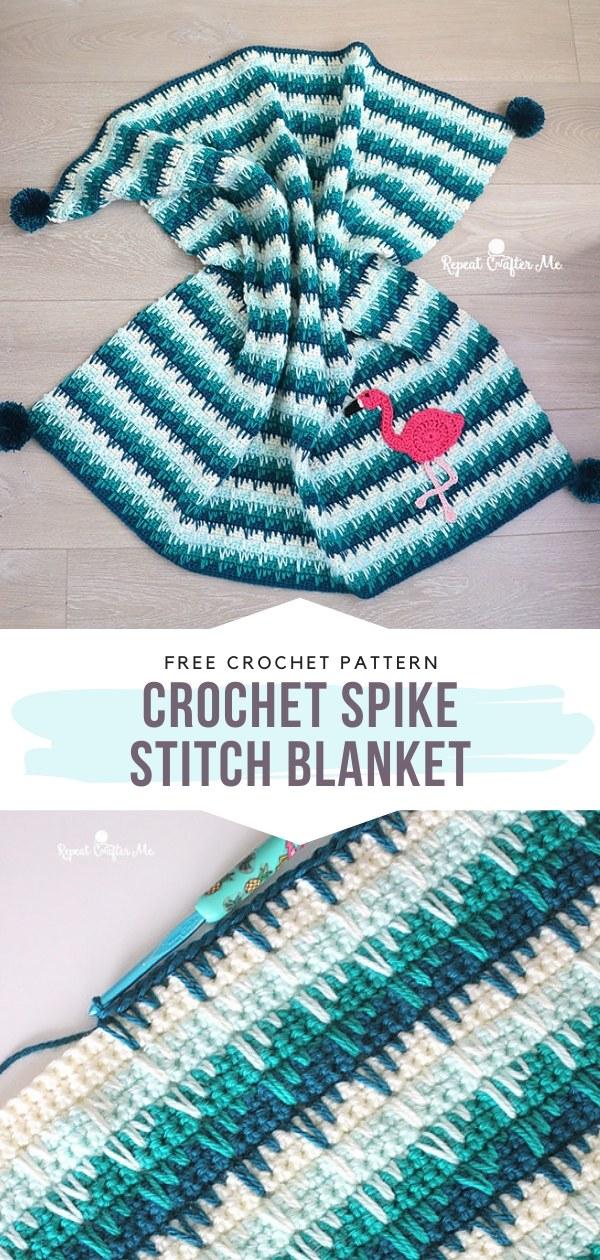 Crochet Spike Stitch Blanket