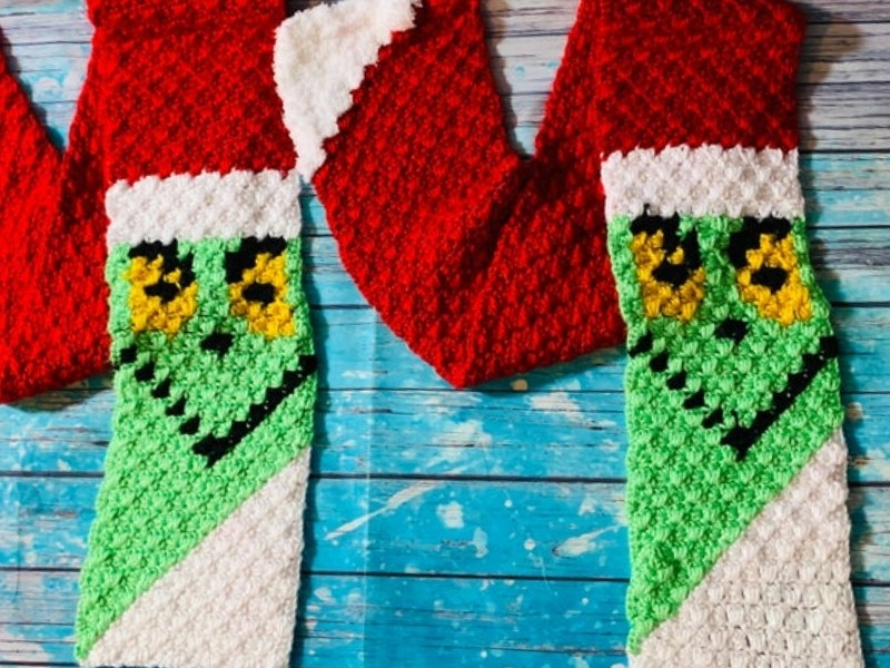 Cute C2C Scarves Free Crochet Patterns