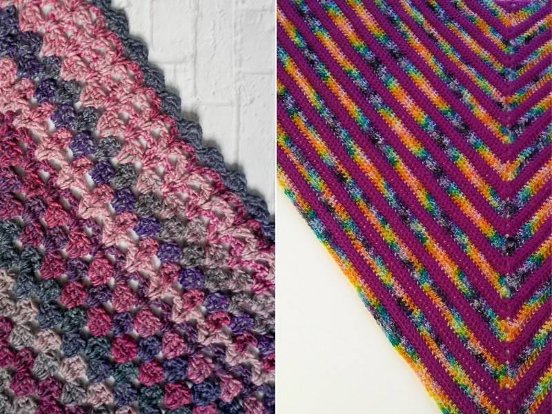 Deeply Pink Shawls Free Crochet Patterns
